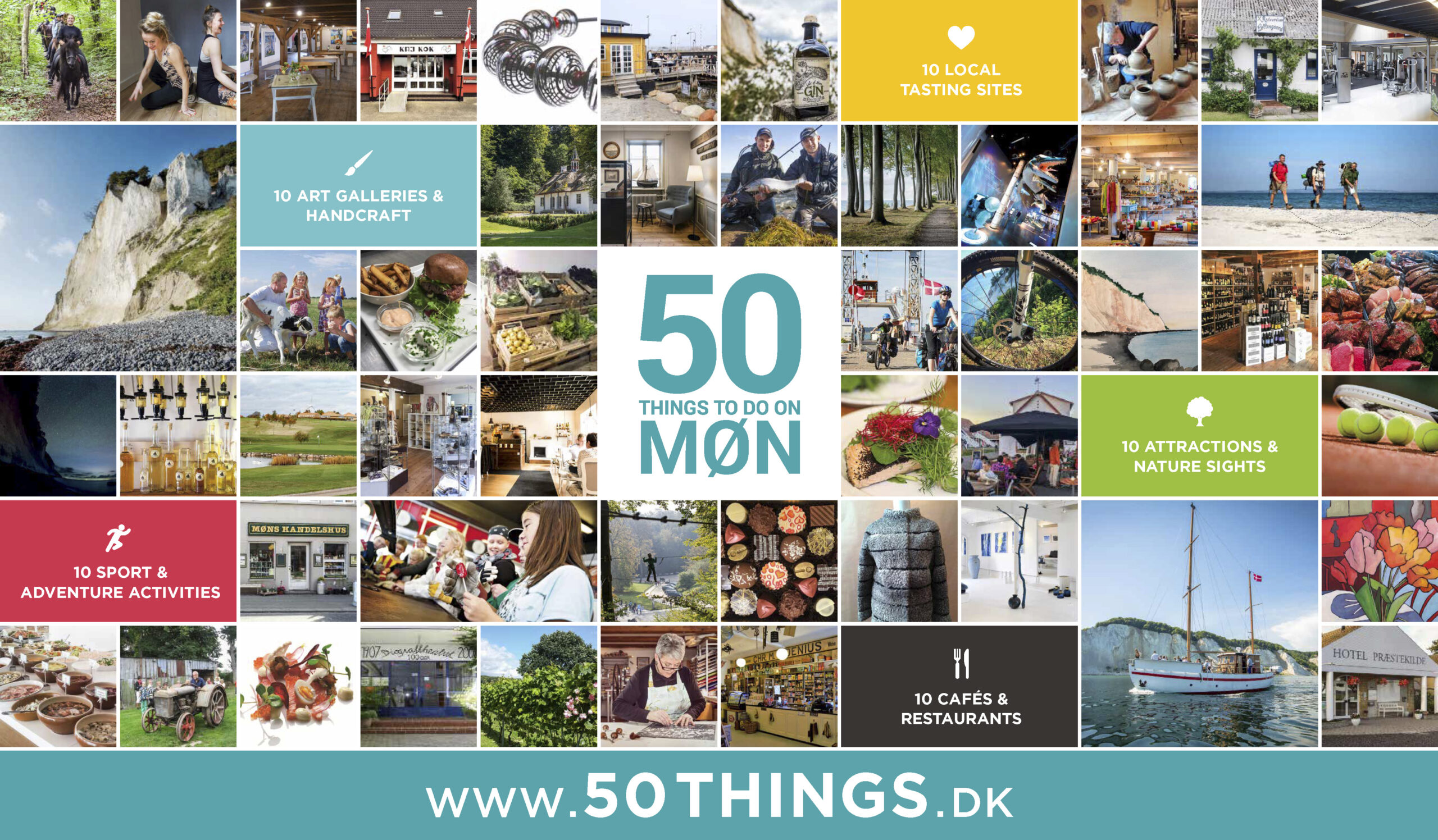 Aktiviteter ved Møn Strandcamping - 50 THINGS TO DO ON MØN
